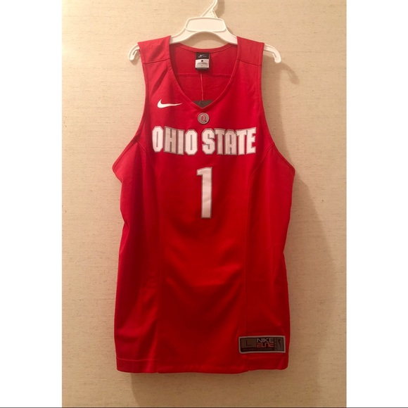 99584491c56 Nike Team Elite Ohio State  1 Basketball Jersey